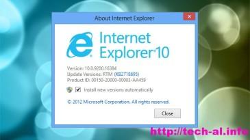 Microsoft lancon versioni e ri Internet Explorer 10