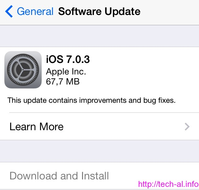 Versioni i ri iOS 7.0.3, tashme eshte gati per shkarkim