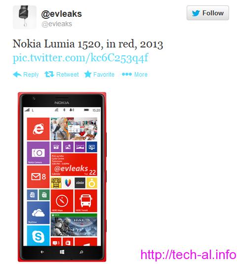 modelin e ri Nokia Lumia 1520